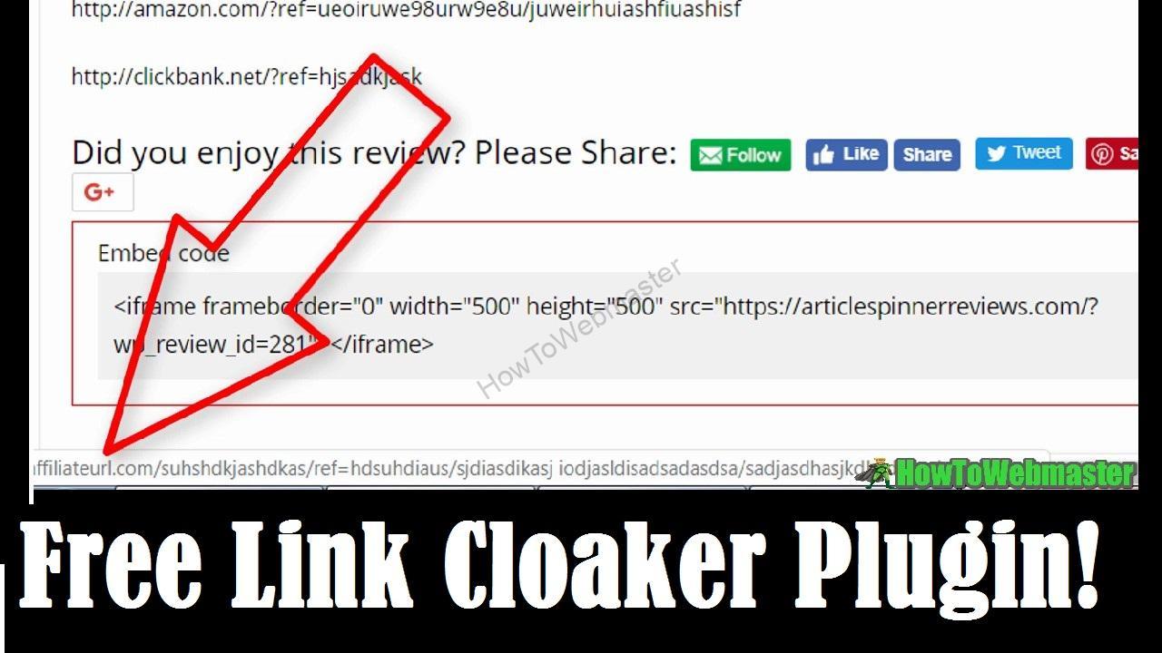 affiliate link cloaker | HowToWebmaster com